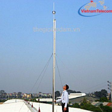 Cột anten rút bằng ống kẽm 10m