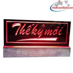 Đèn Led forhire khắc Laze màu đỏ lắp trên xe Taxi tại Vietnam Telecom