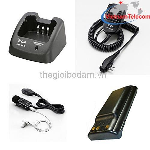 phụ kiện máy bộ đàm cầm tay ICOM IC-F3033T chính hãng, phu kien may bo dam cam tay ICOM IC F3033T chinh hang