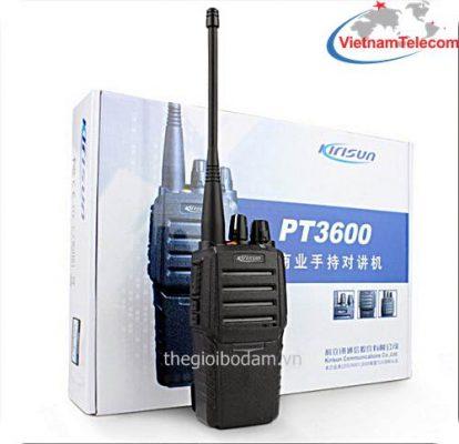 máy bộ đàm cầm tay Kirisun PT-3600 được nhập khẩu chính hãng tại Vietnam Telecom