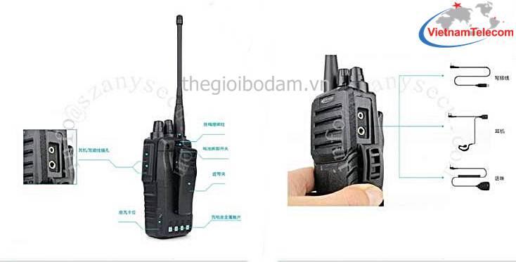 sử dụng máy bộ đàm cầm tay Kirisun PT-3600 rất đơn giản