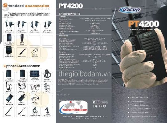 Tính năng của máy bộ đàm cầm tay Kirisun PT4200