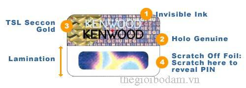 Nhãn chống hàng giả độc quyền của Kenwood
