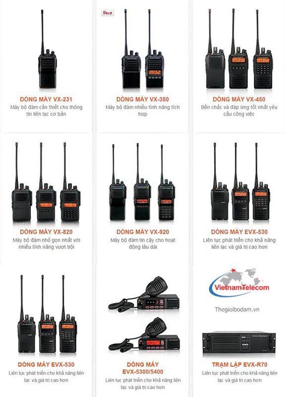 Các model bộ đàm vertex standard do Vietnamtelecom nhập khẩu phân phối