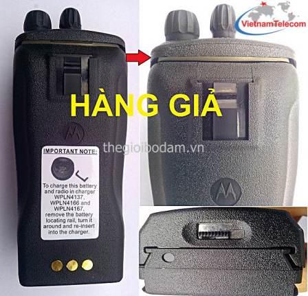 Vietnam Telecom hướng dẫn phân biệt bộ đàm Motorola GP3188 thật/giả bằng giao diện