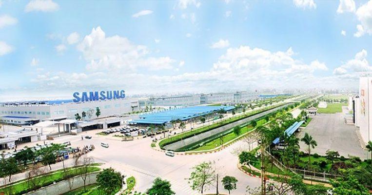 Toàn cảnh nhà máy Sam Sung Bắc Ninh