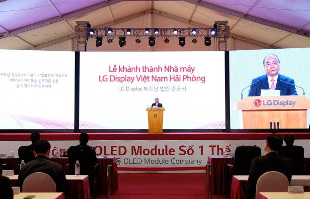 Thủ tướng Nguyễn Xuân Phúc phát biểu tại lễ khánh thành nhà máy