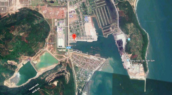 Vị trí địa lý của Cảng quốc tế Nghi Sơn