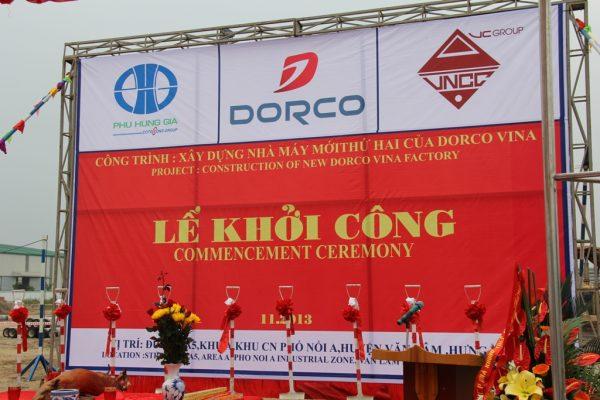 Lễ khởi công xây dựng nhà máy Dorco Hưng Yên
