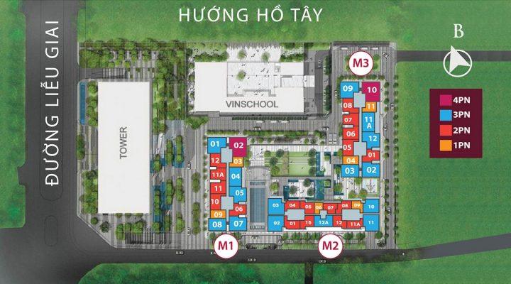 Sơ đồ quy hoạch khu đô thị Vinhomes Metropolis